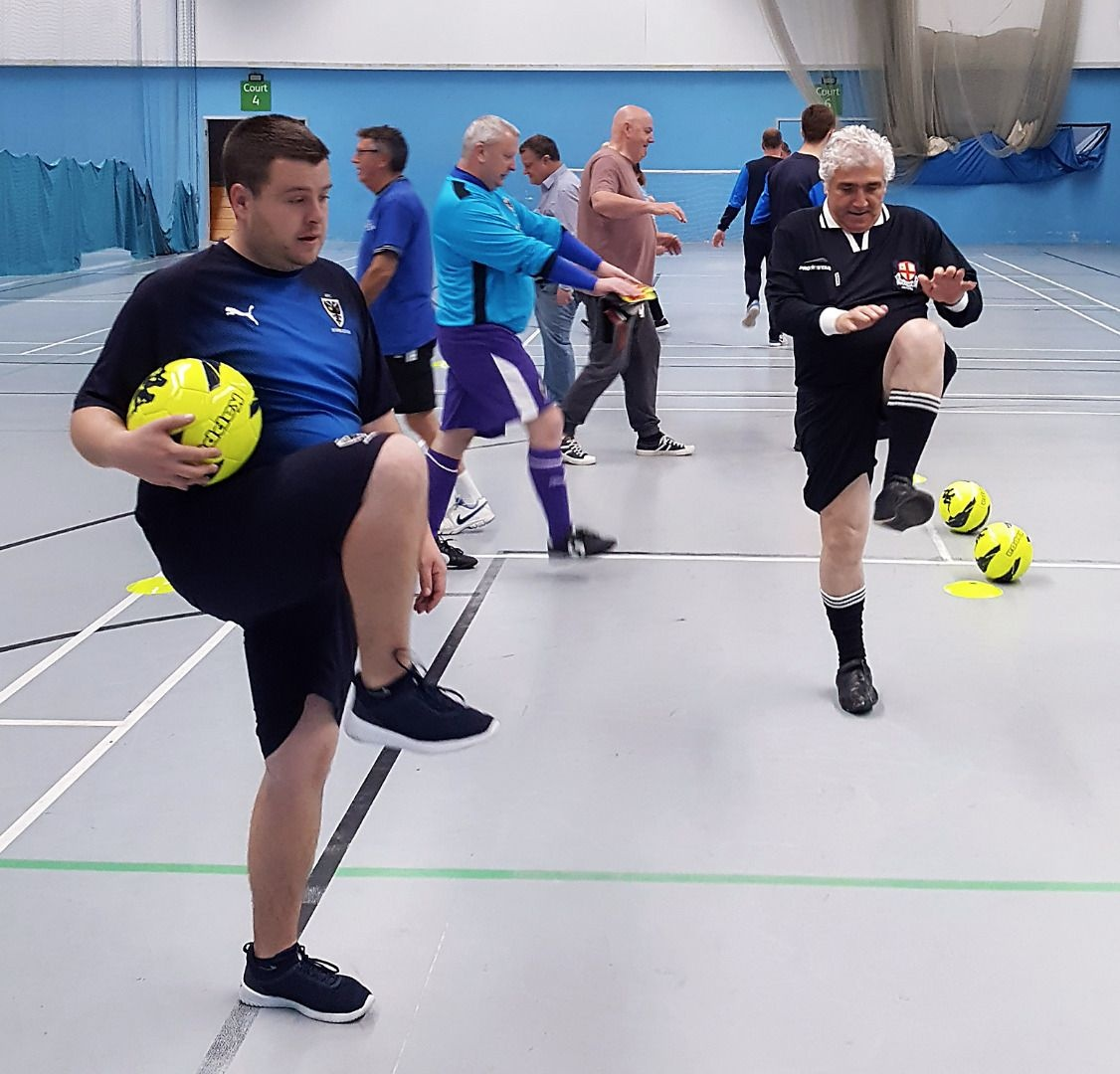 Over 50s walking football in Merton