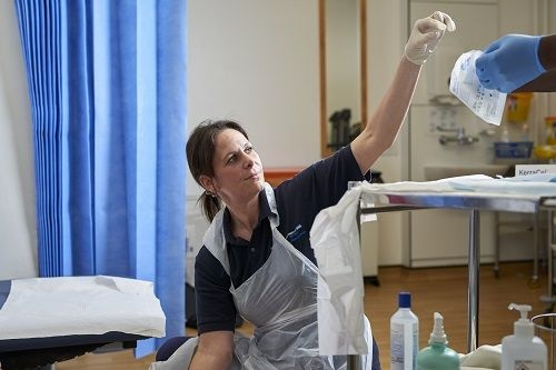 Image of a nurse working